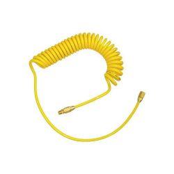 สายลม PU แบบขดสปริง พร้อมข้อต่อ ( สีเหลือง 8x5mm 10M.) - Twister