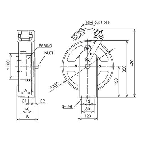 โรลเก็บสายไฟ อัตโนมัติ Twister รุ่น N-TYPE (พร้อมสายไฟ 20M)