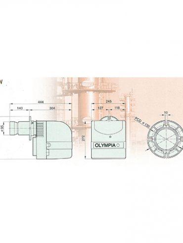 เครื่องพ่นไฟ OLYMPIA รุ่น OB-10 ชนิดใช้น้ำมัน ดีเซล